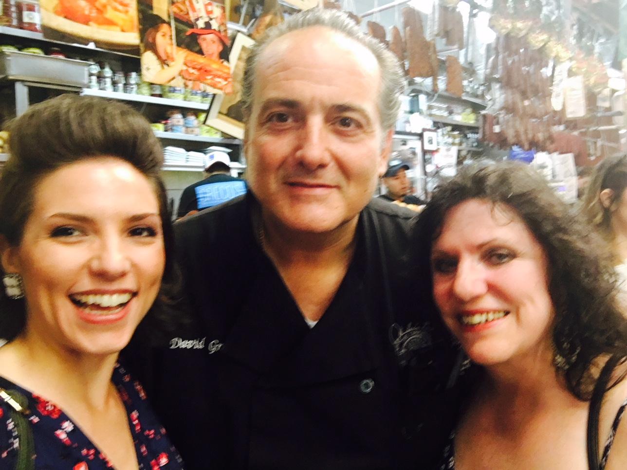 With David Greco at Ferragosto in the Arthur Avenue Market.