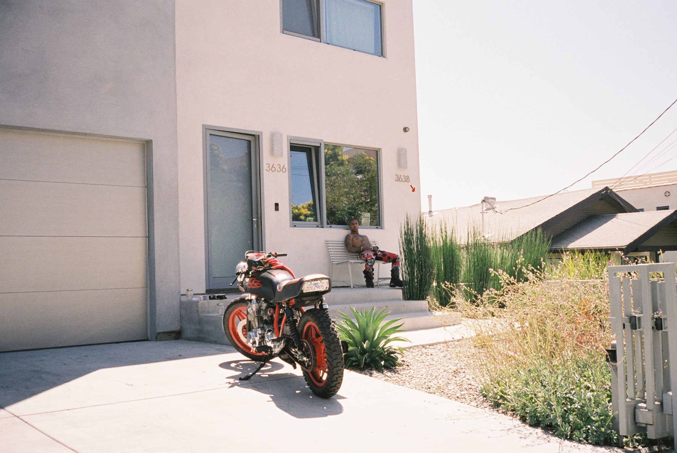 26-year-old artist Vic Mensa, outside his Los Angeles home