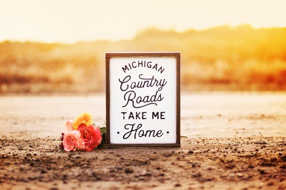 "- ""Take Me Home"" Hand Painted Sign-Brush & Timber Shop-"