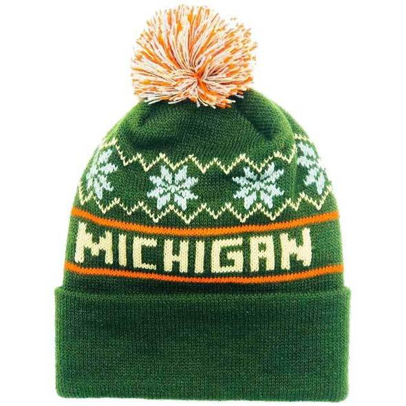 - Michigan Winter Hat - Forest Green Beanie-Mitten Crate Co.
