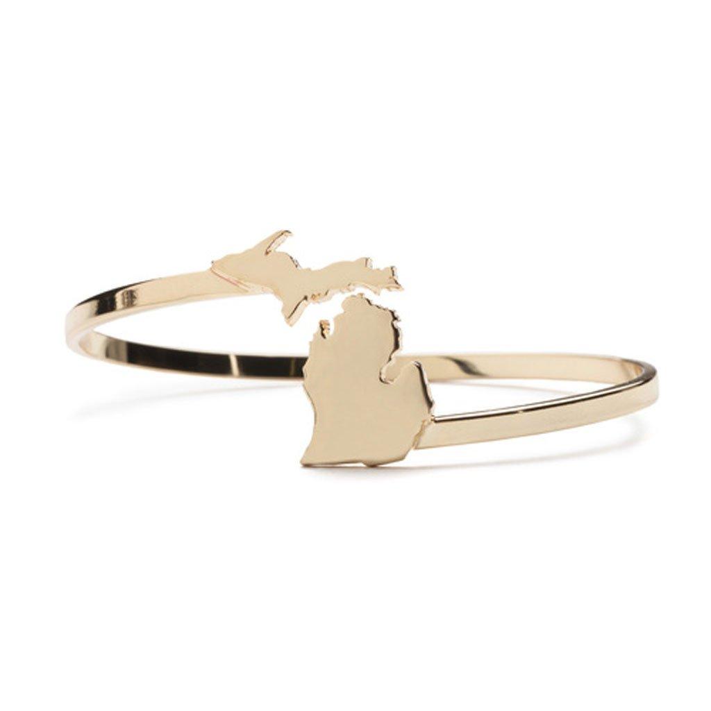 - Michigan Wrap Bracelet - Gold-City Bird Shop-