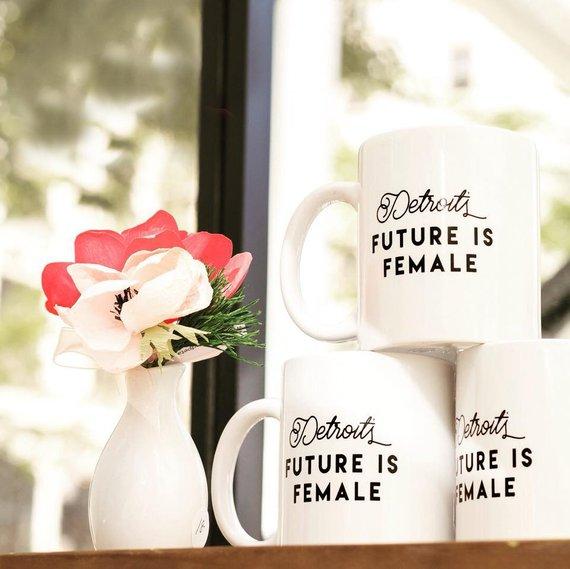- Detroit's Future is Female Classic Mug- The Crimson Fox Studio-