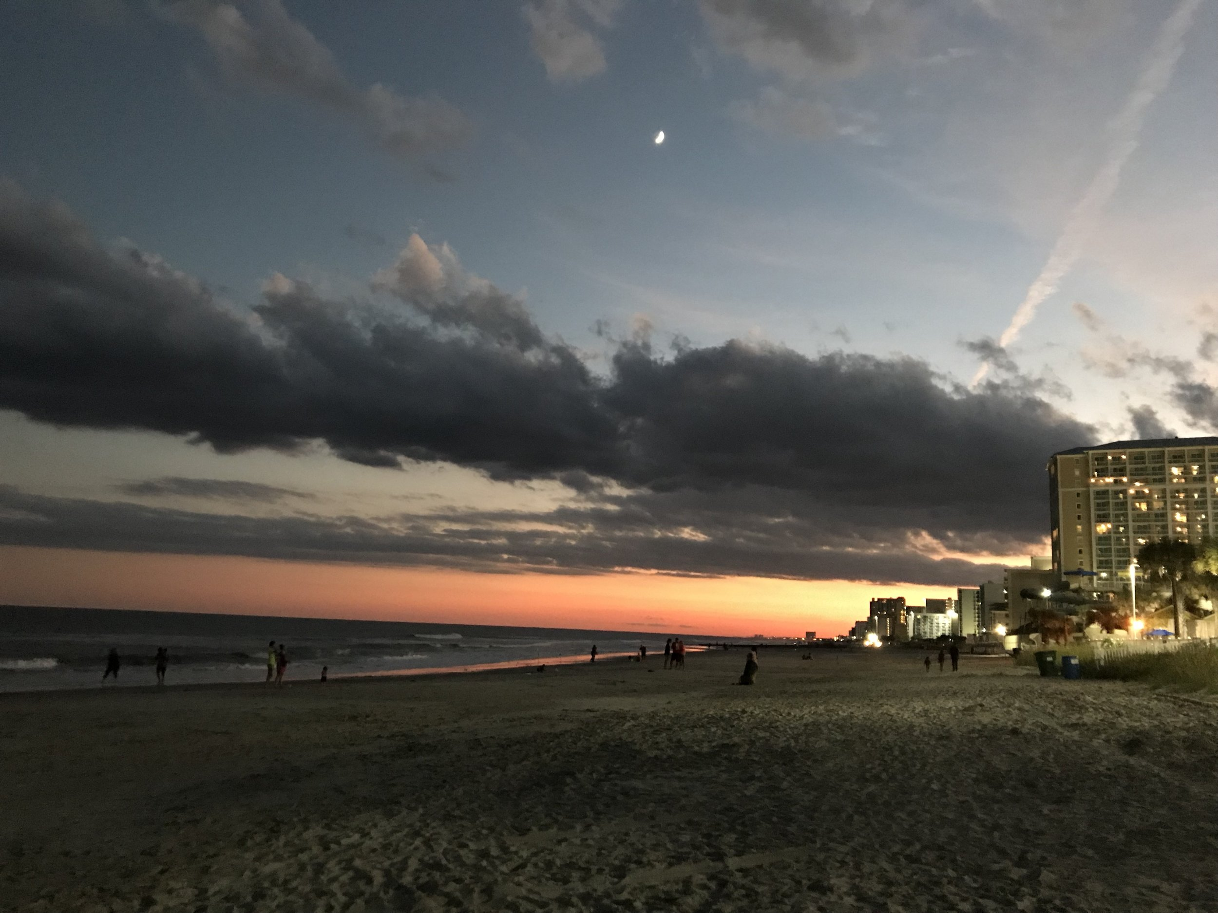 Myrtle Beach at sunset.