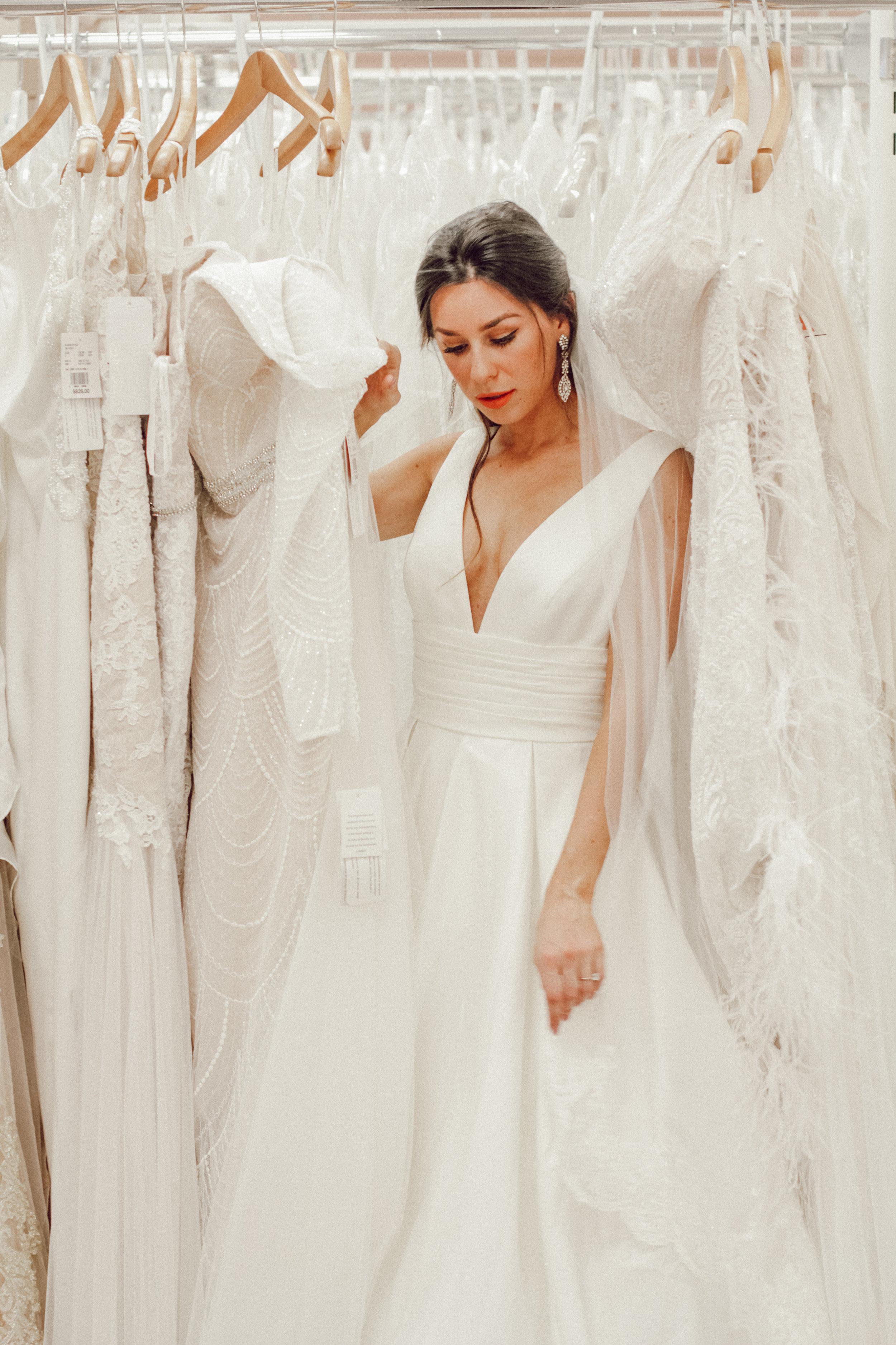 Wedding Dress A line  Davids Bridal