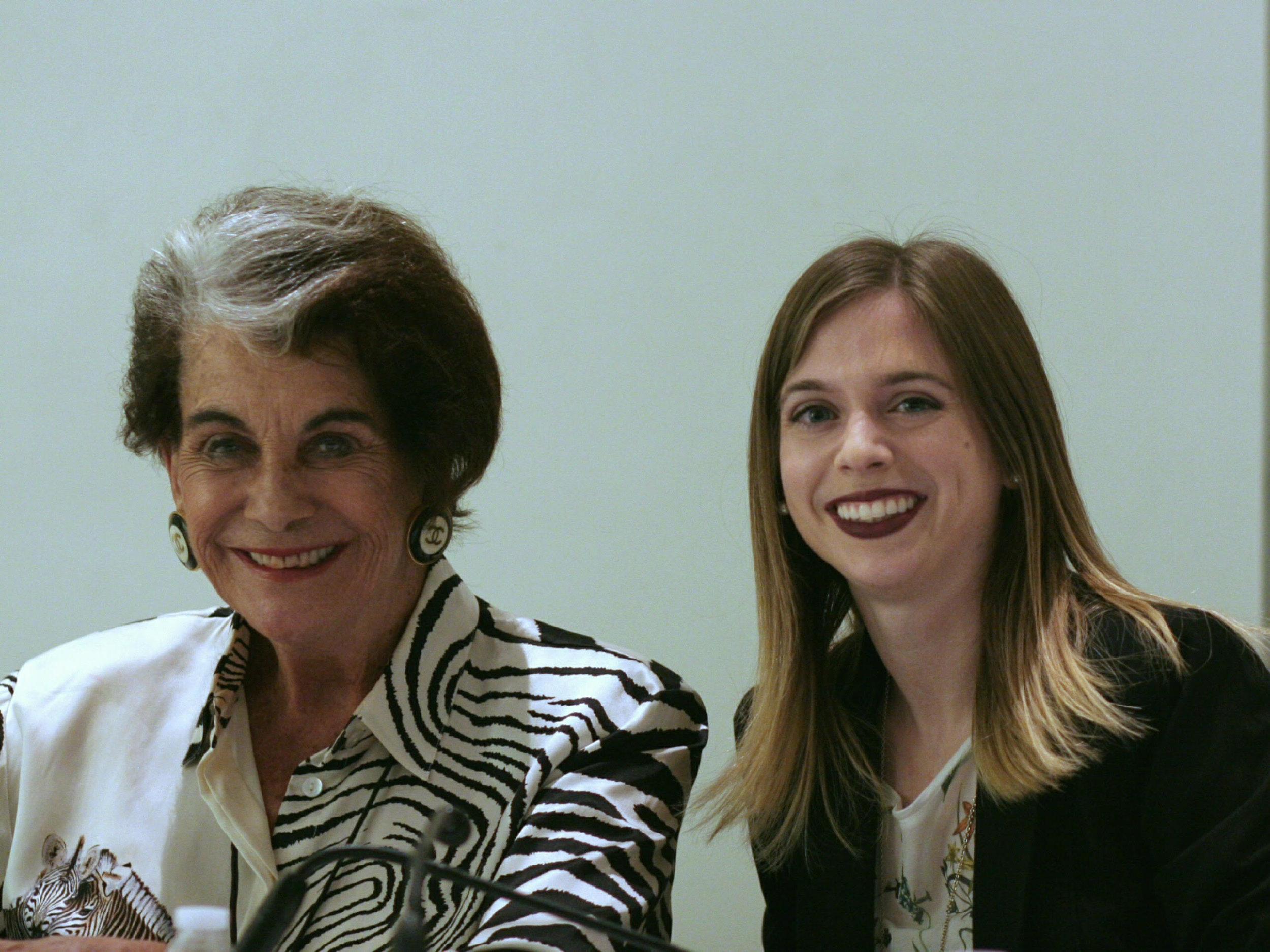 Sitting on the panel with Sara Jane Karloff, daughter of actor Boris Karloff.