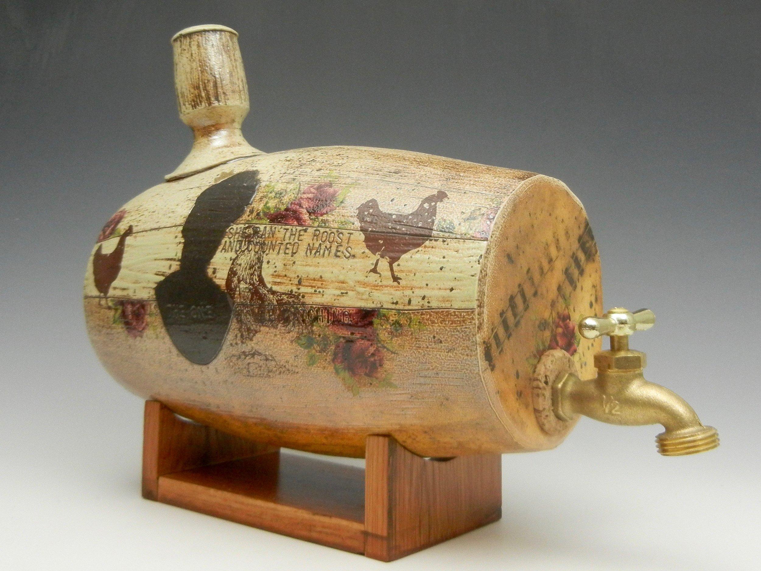 Lorenz Pottery, handmade, ceramics, pottery, folk pottery, wood fired, soda fired, water barrel