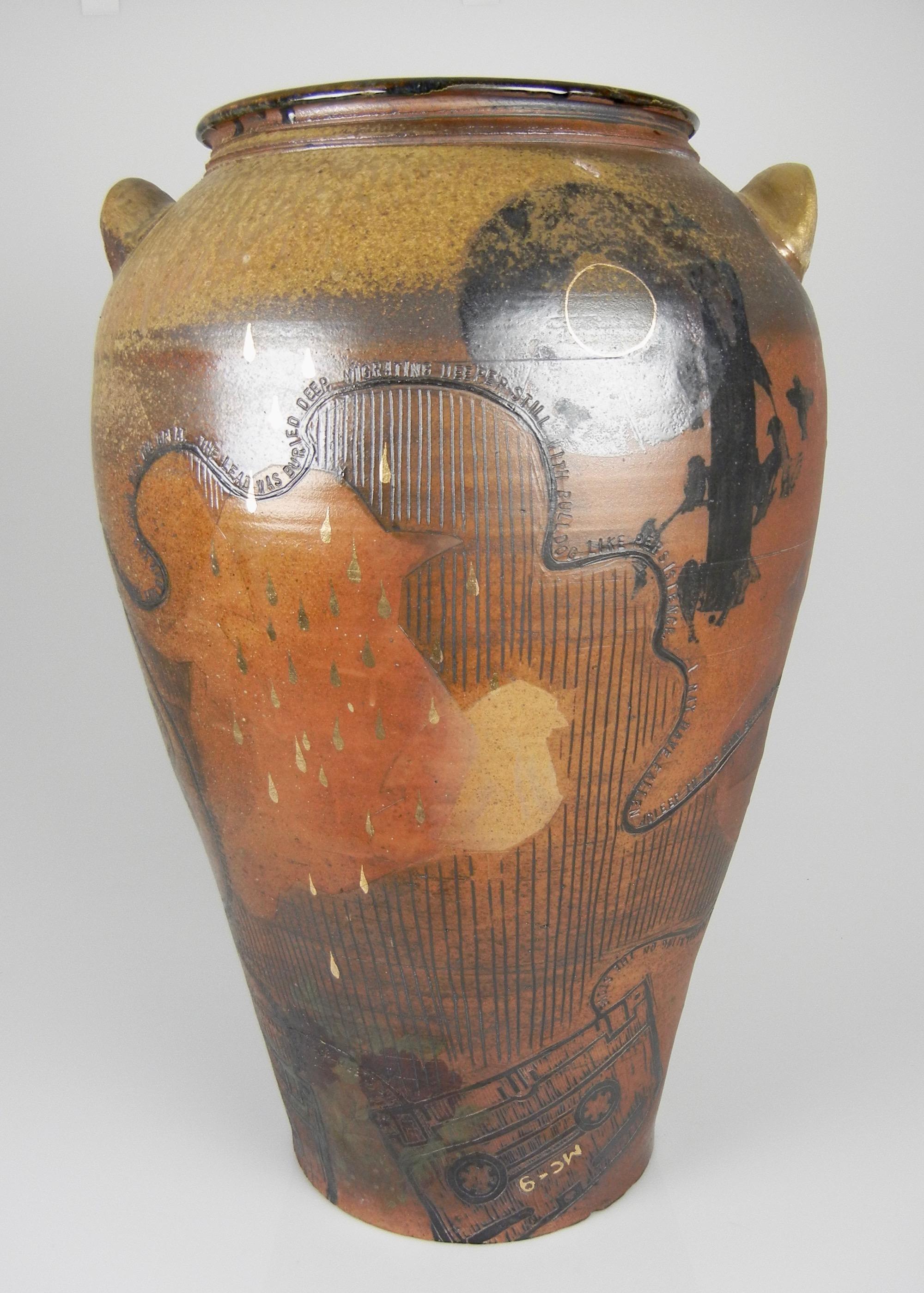 Lorenz Pottery, wood fired, soda fired, folk pottery, crock