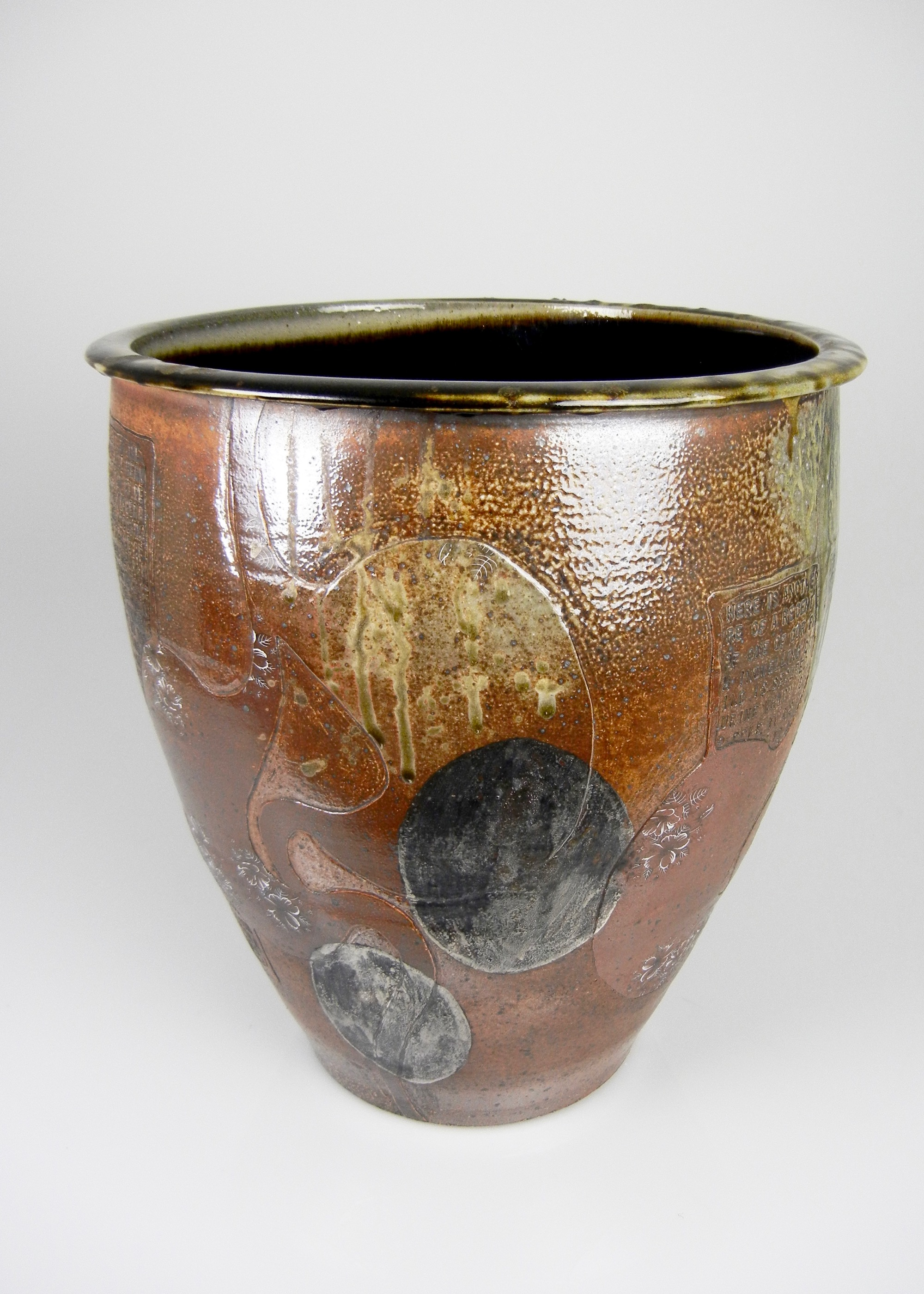 Lorenz Pottery, ceramics, pottery, folk pottery, wood fired, soda fired, cream riser, planter