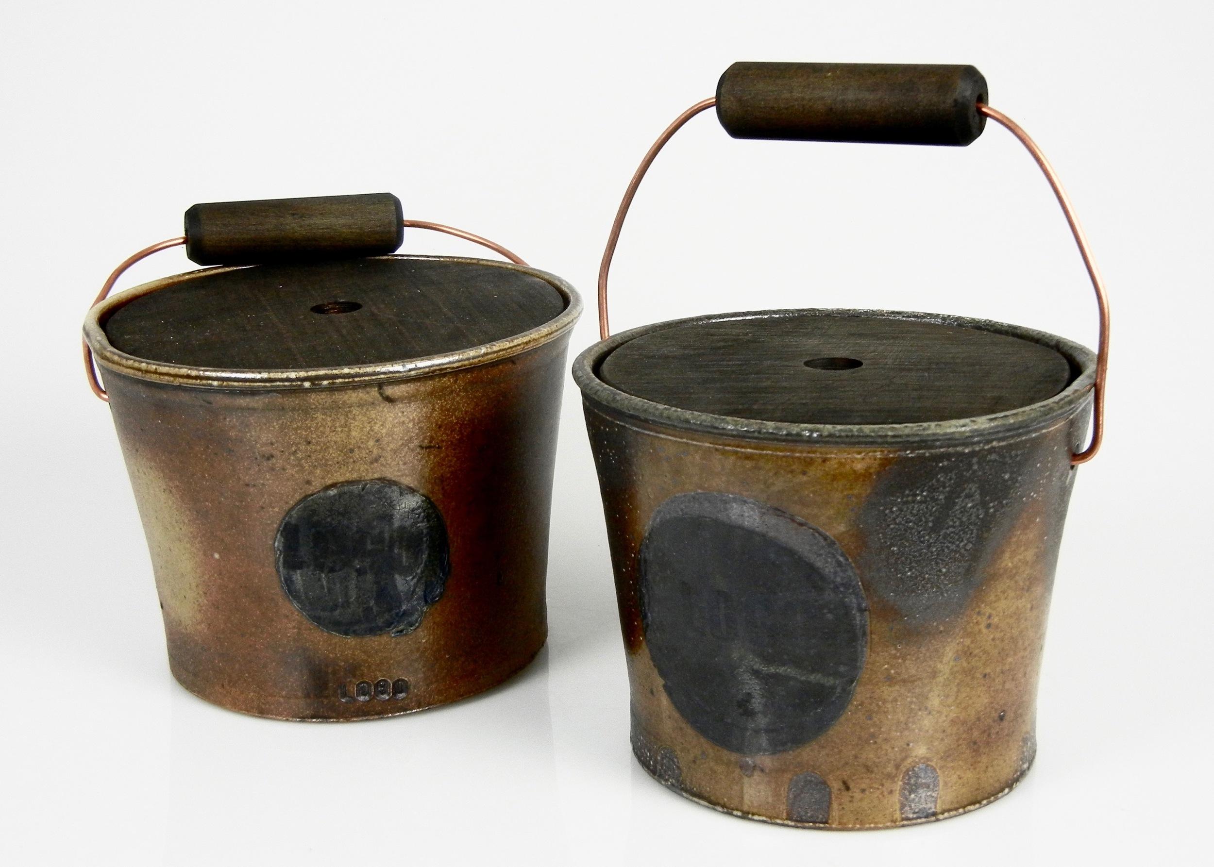 Lorenz Pottery, ceramics, pottery, folk pottery, wood fired, soda fired, bucket, logo