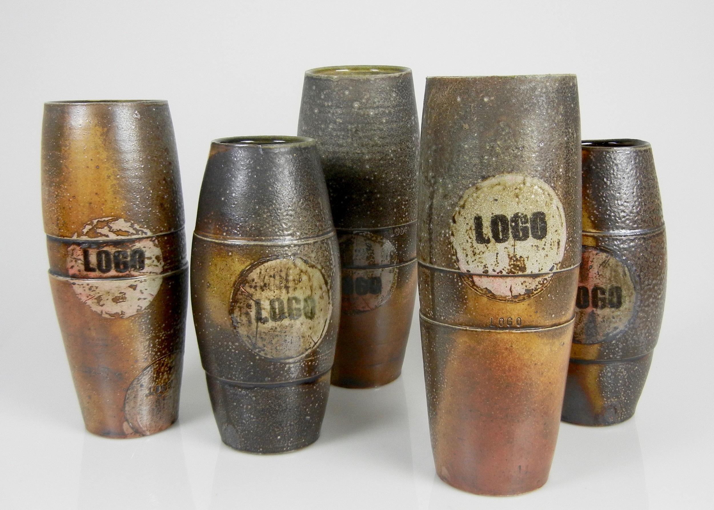 Lorenz Pottery, ceramics, pottery, folk pottery, wood fired, soda fired, vase, logo