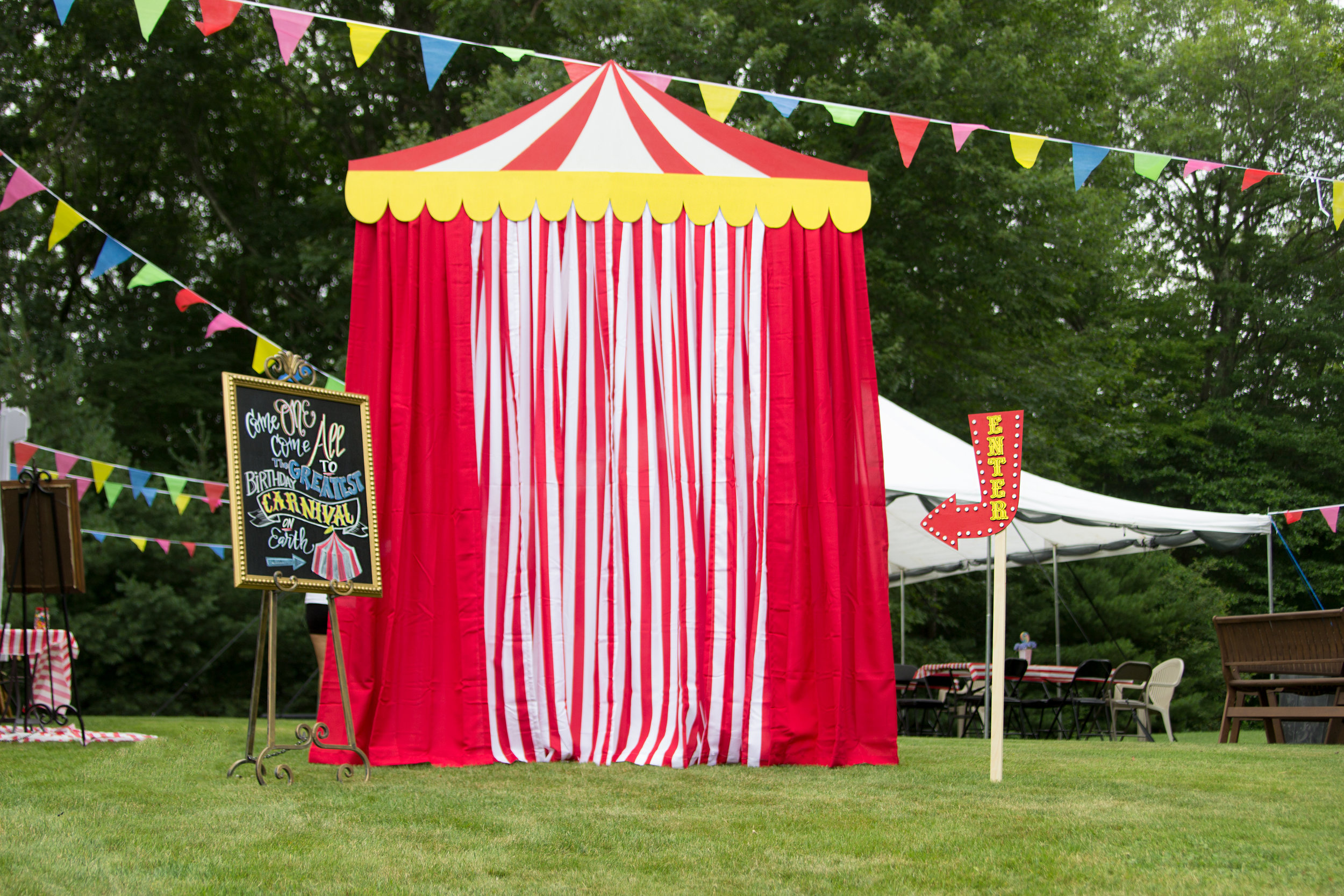 A birthday Carnival - Backdrop and signage