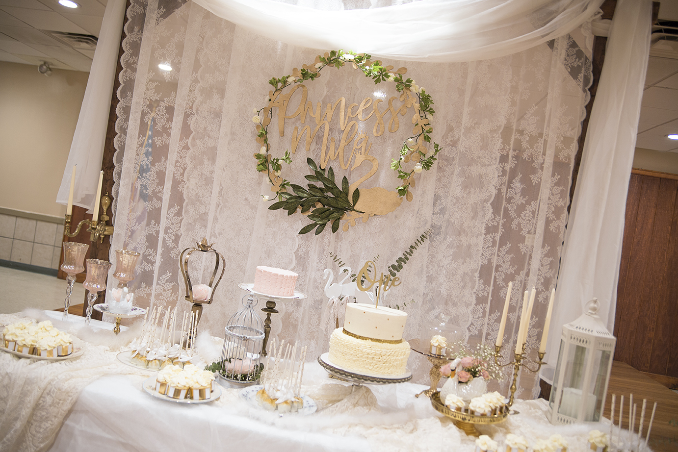 SWAN PRINCESS 1st Birthday - Complete styling