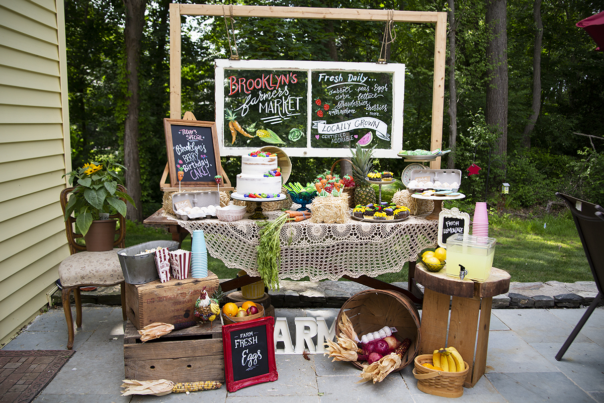 Farmers Market Birthday - Complete styling
