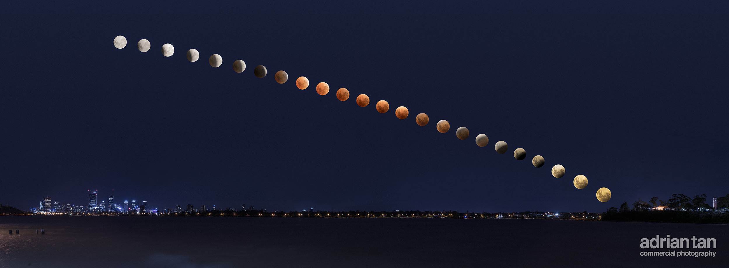 Supermoon Blue moon Lunar Eclipse Finished Image