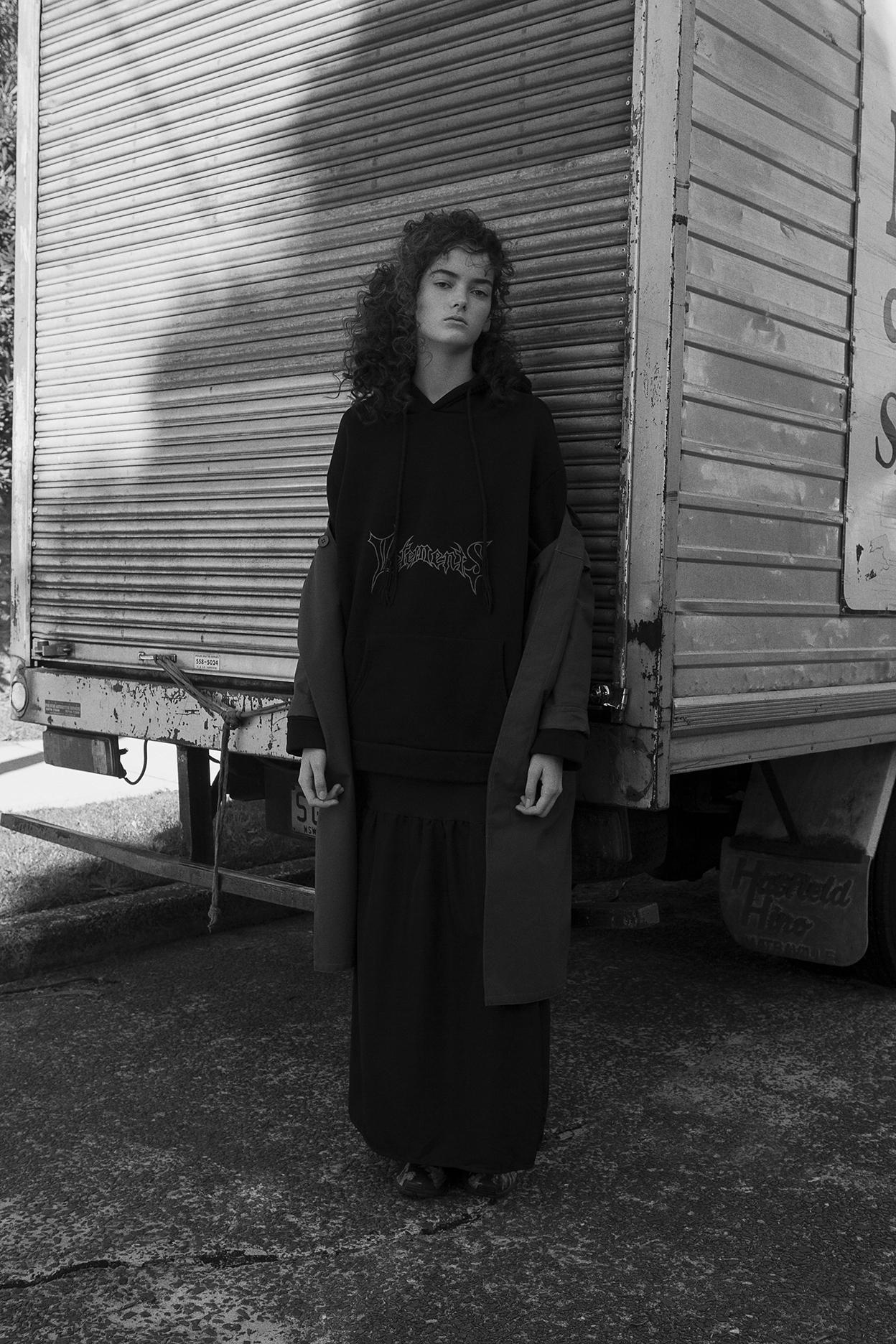 raincoat  APC  hoodie  vetements  skirt  vintage zoo emporium  shoes  adidas