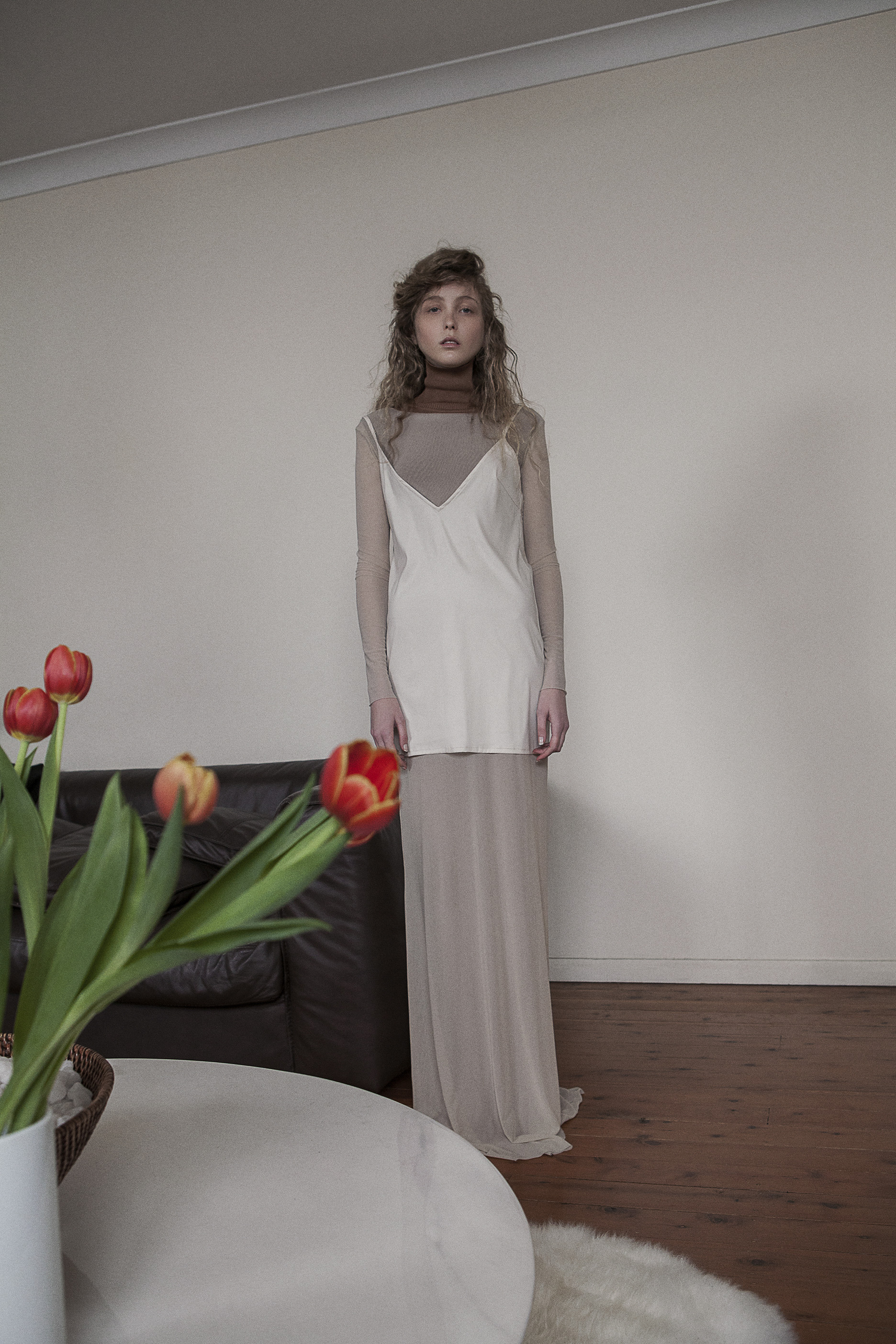 turtle neck  vintage zoo emporium   mesh dress (worn under) saint ella   slip dress saint ella
