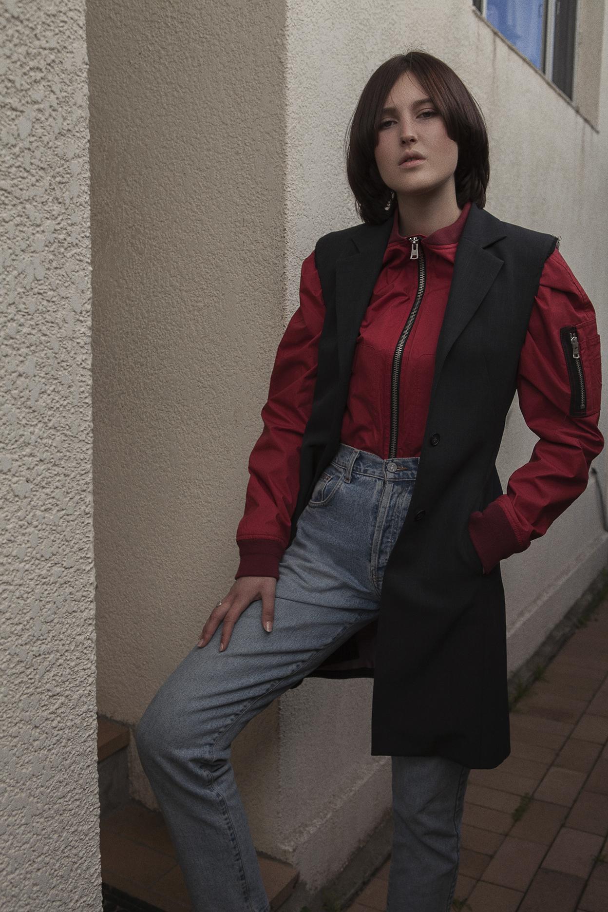 vest  model's own  bomber  tommy hilfiger  jeans  model's own