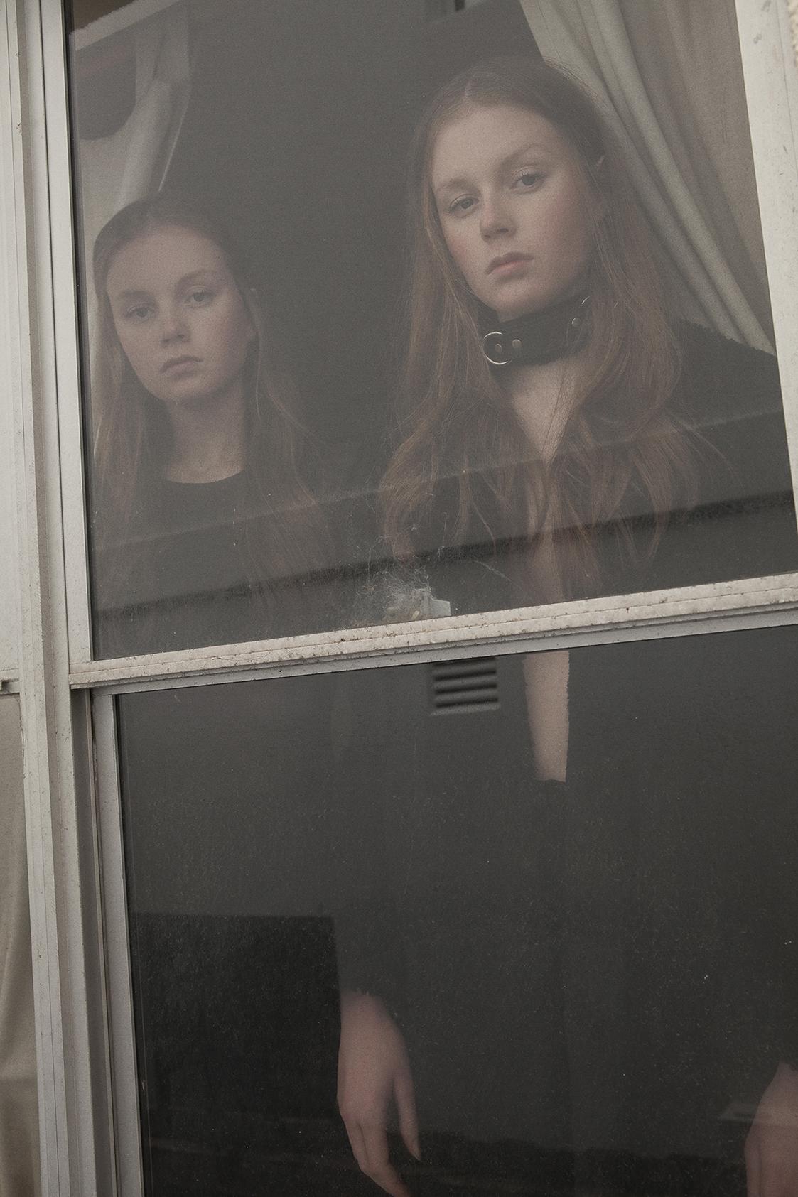 left wears  mesh dress  s aint ella   right wears choker max black, limedrop