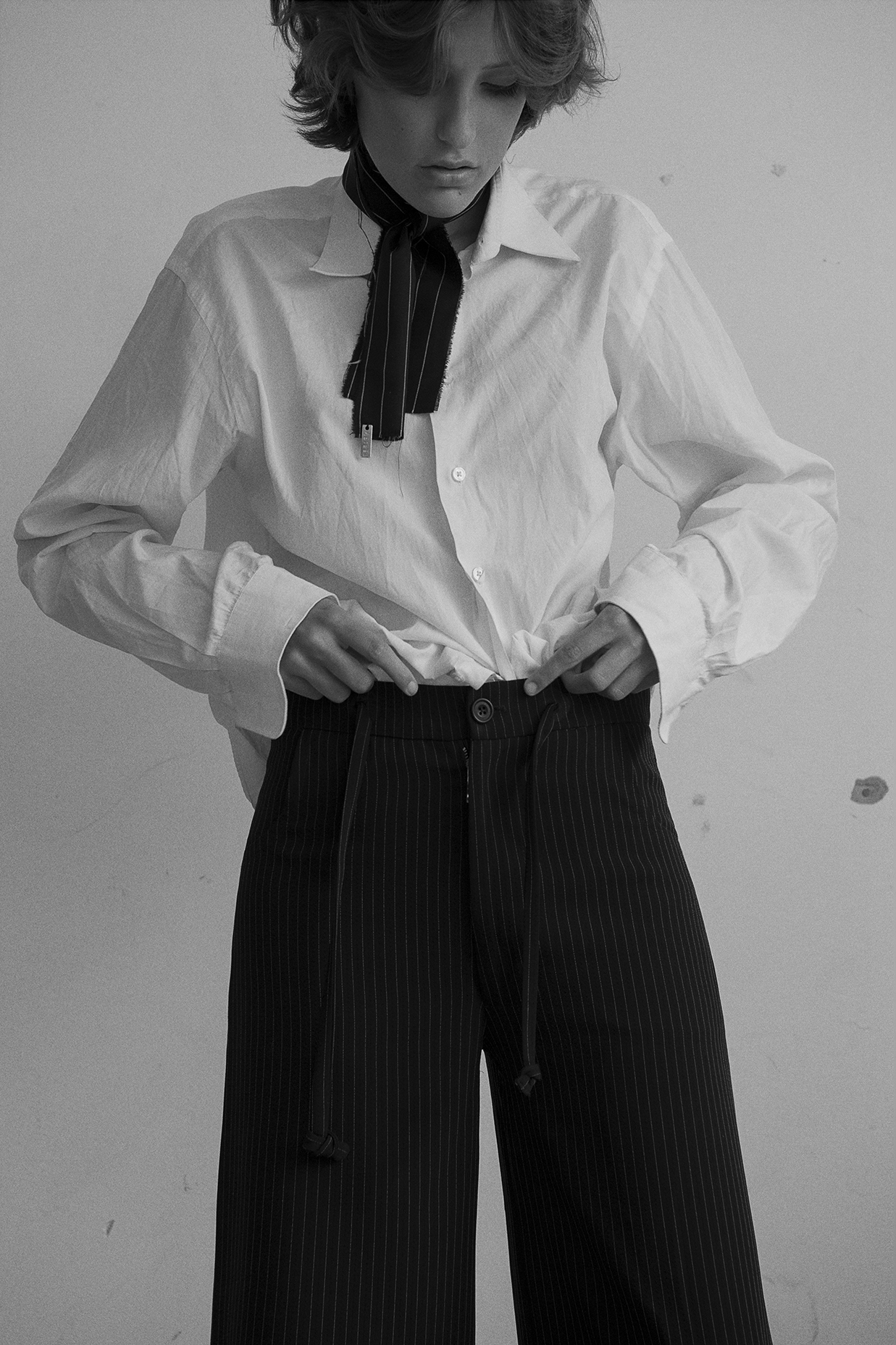 shirt  calvin klein  neckerchief  aaizel  trousers  charlie may