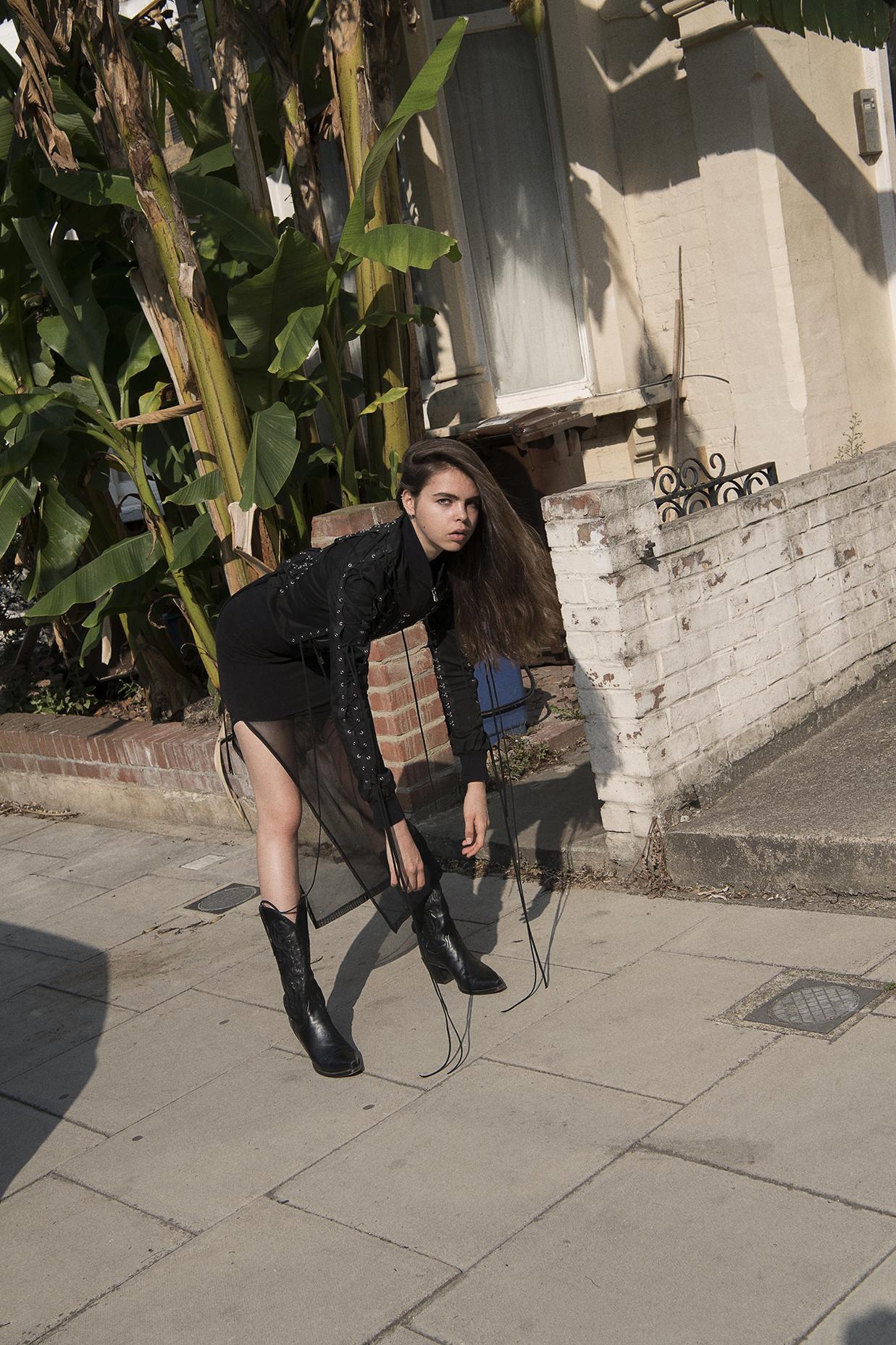jacket  dolce & gabbana  dress + boots  models own