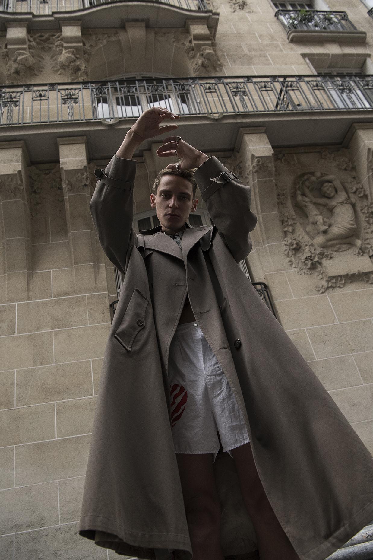 coat  christian dior  denim vest  vintage  boxer shorts  faith connexion