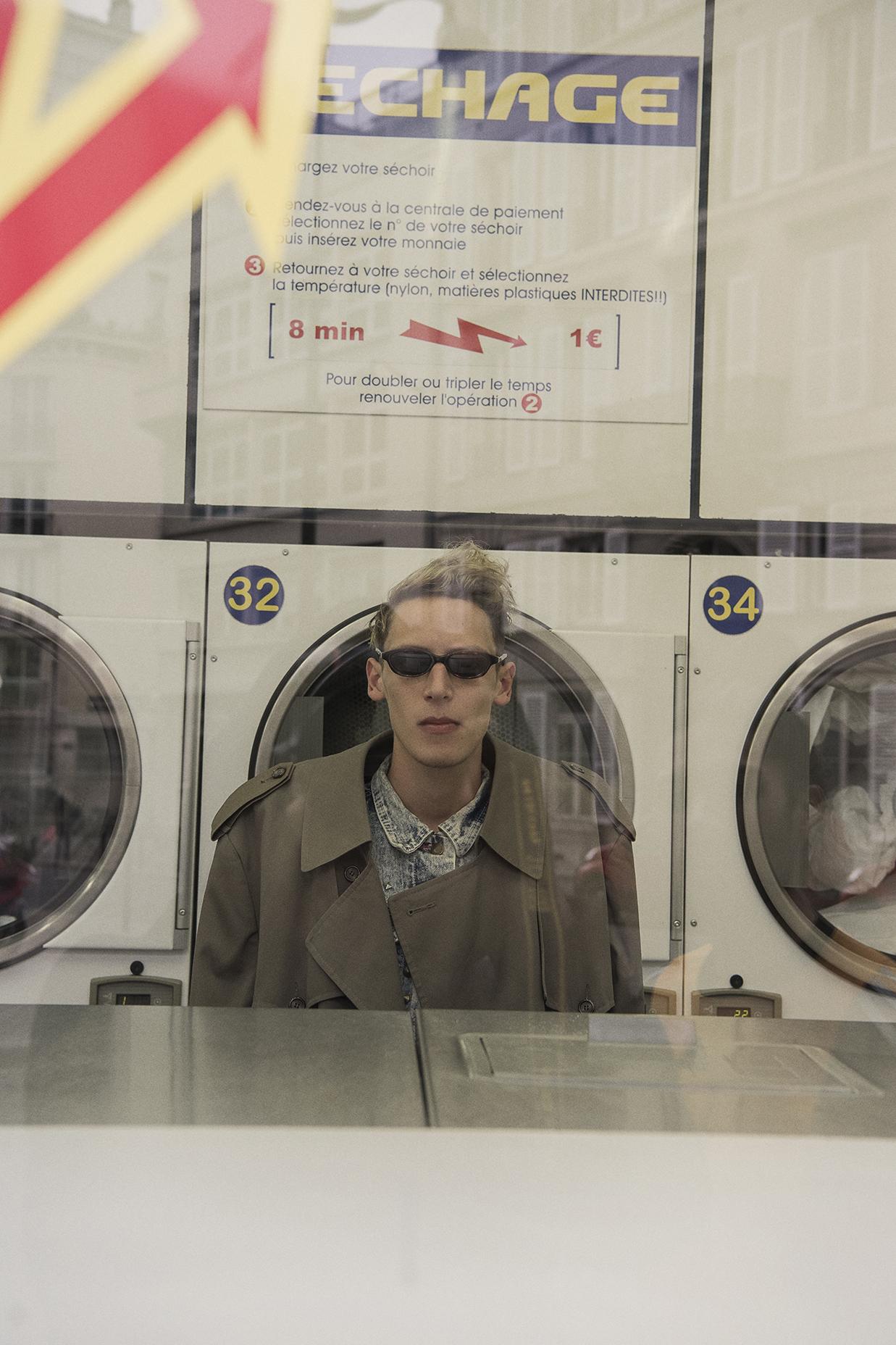coat  christian dior  denim vest  vintage  sunglasses  models own
