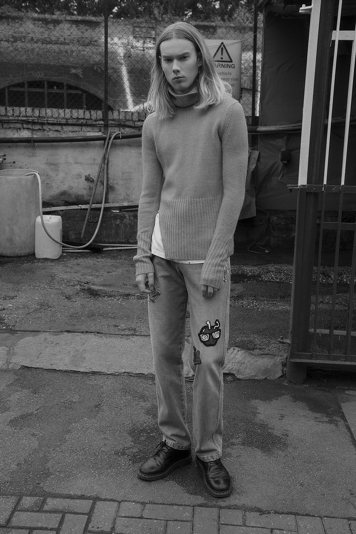 turtleneck  monki  t-shirt + earring  models own  jeans  kenzo  shoes  dr martens