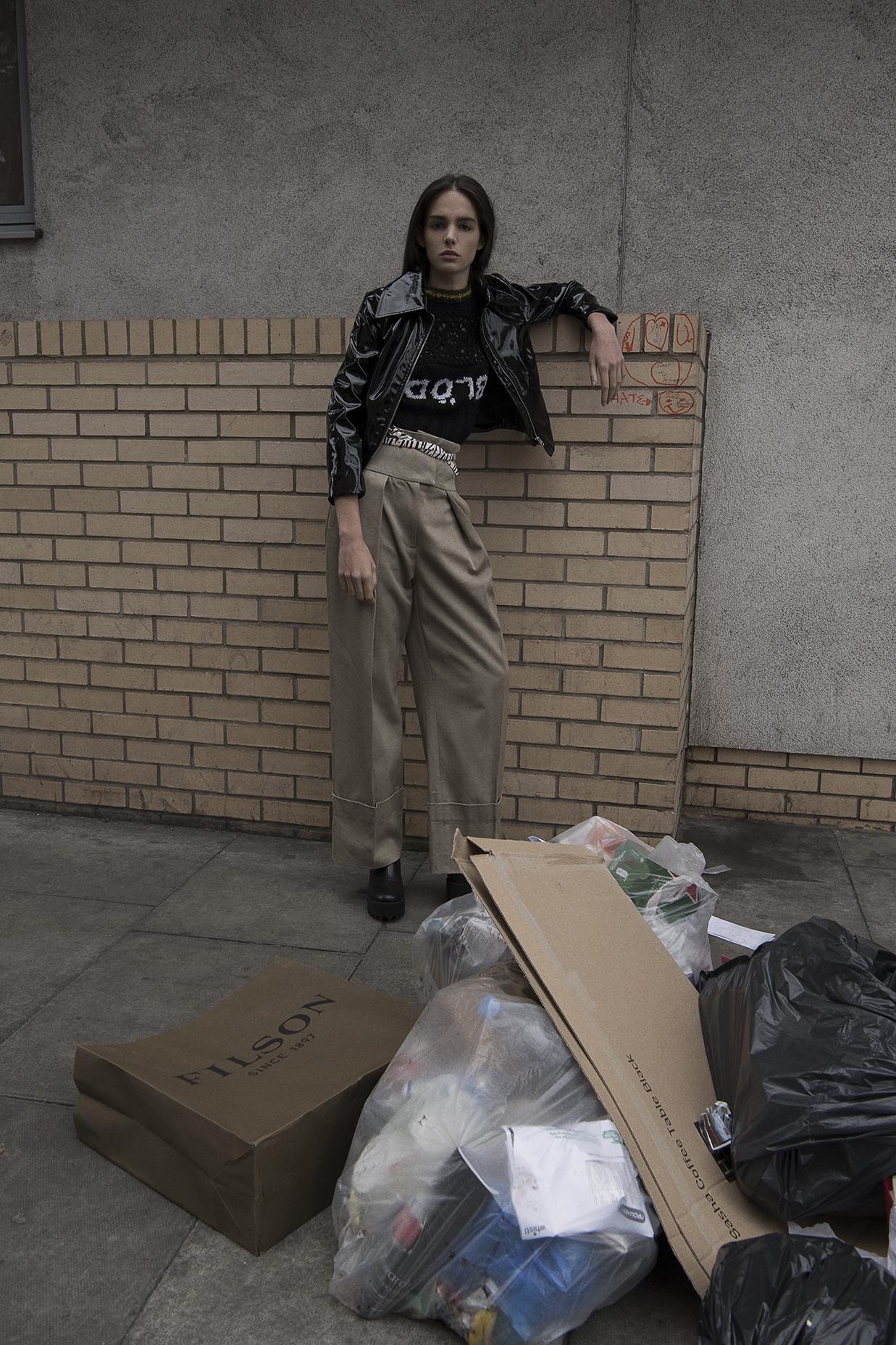 jacket  monki  jumper  8DIX  trousers  preen line  belt  stylist's own  boots  monki