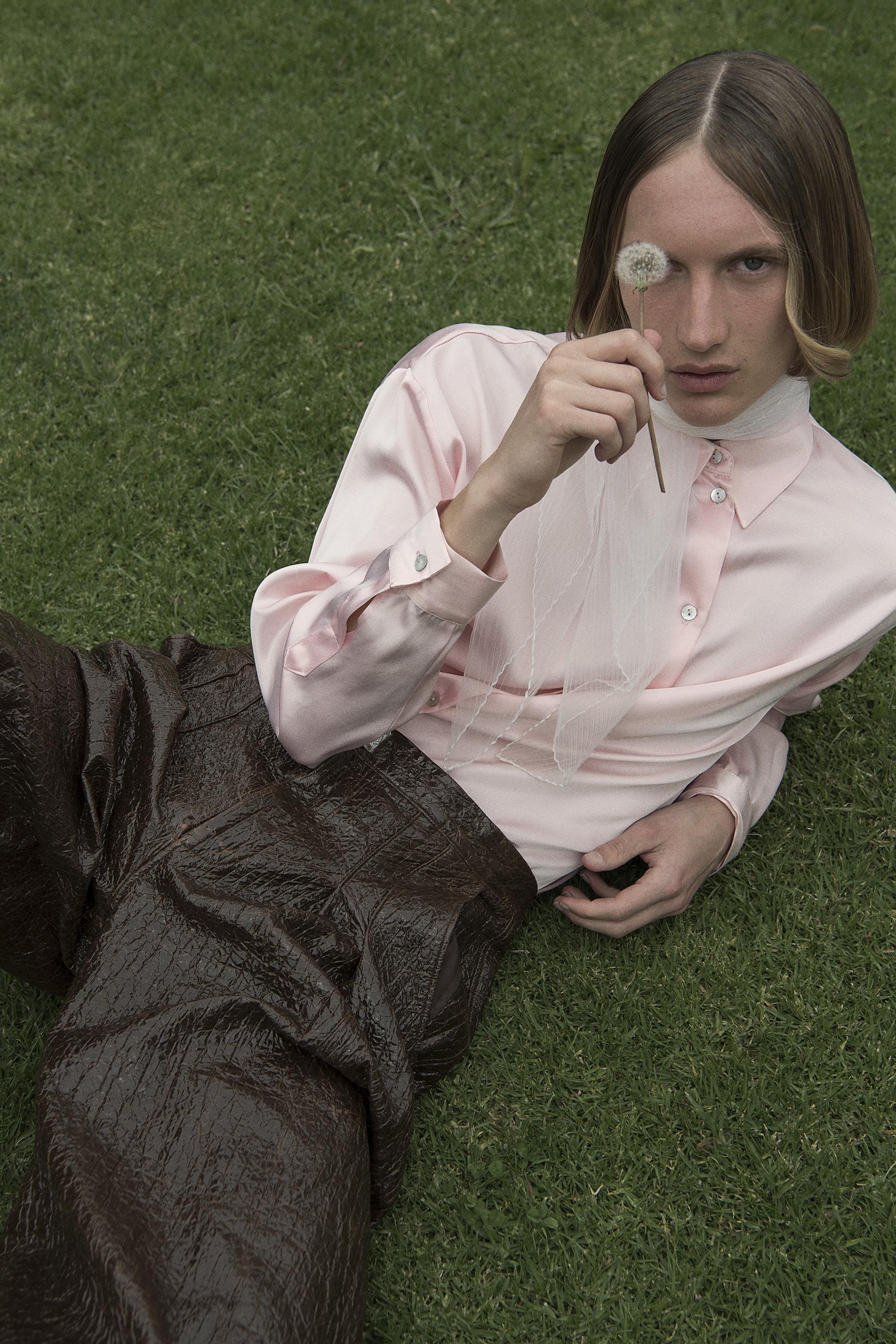 crocodile pants +scarf  stylists own  silk shirt  vintage  pants  alexandra peters