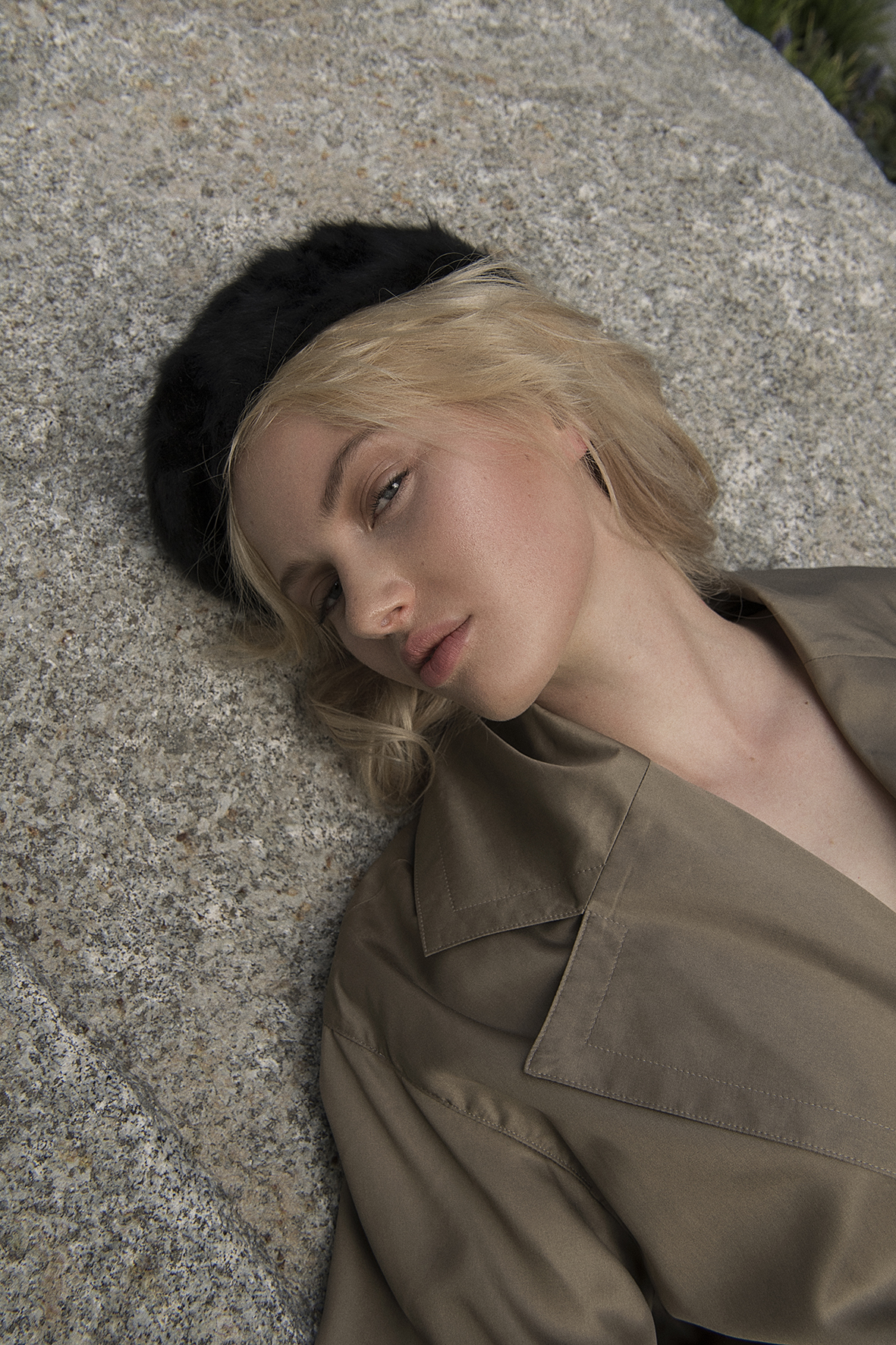 angora beret  stylists own  trench  ysl