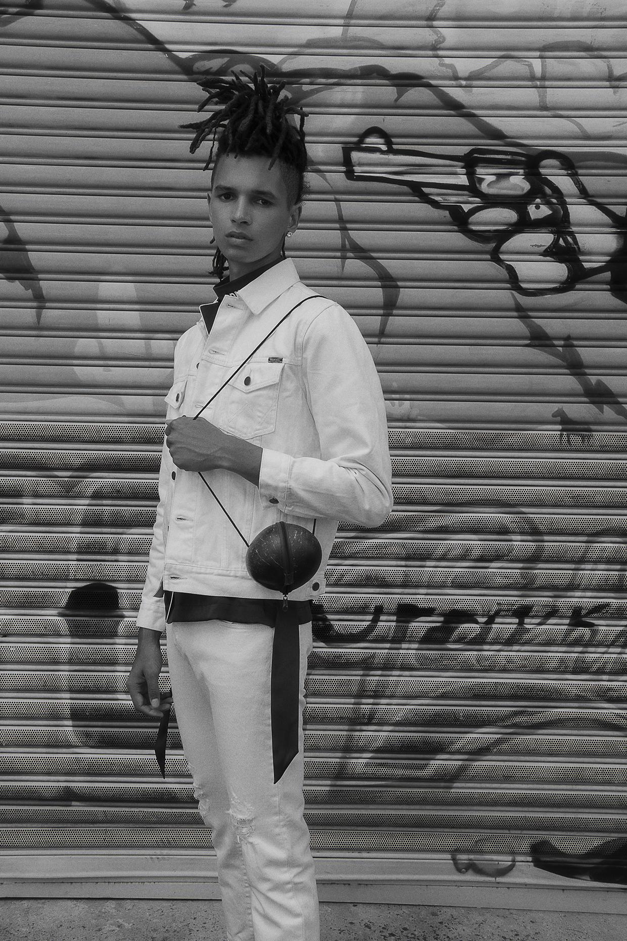 shirt  trenery  white denim jacket + pants  wrangler  coconut bag vintage zoo emporium