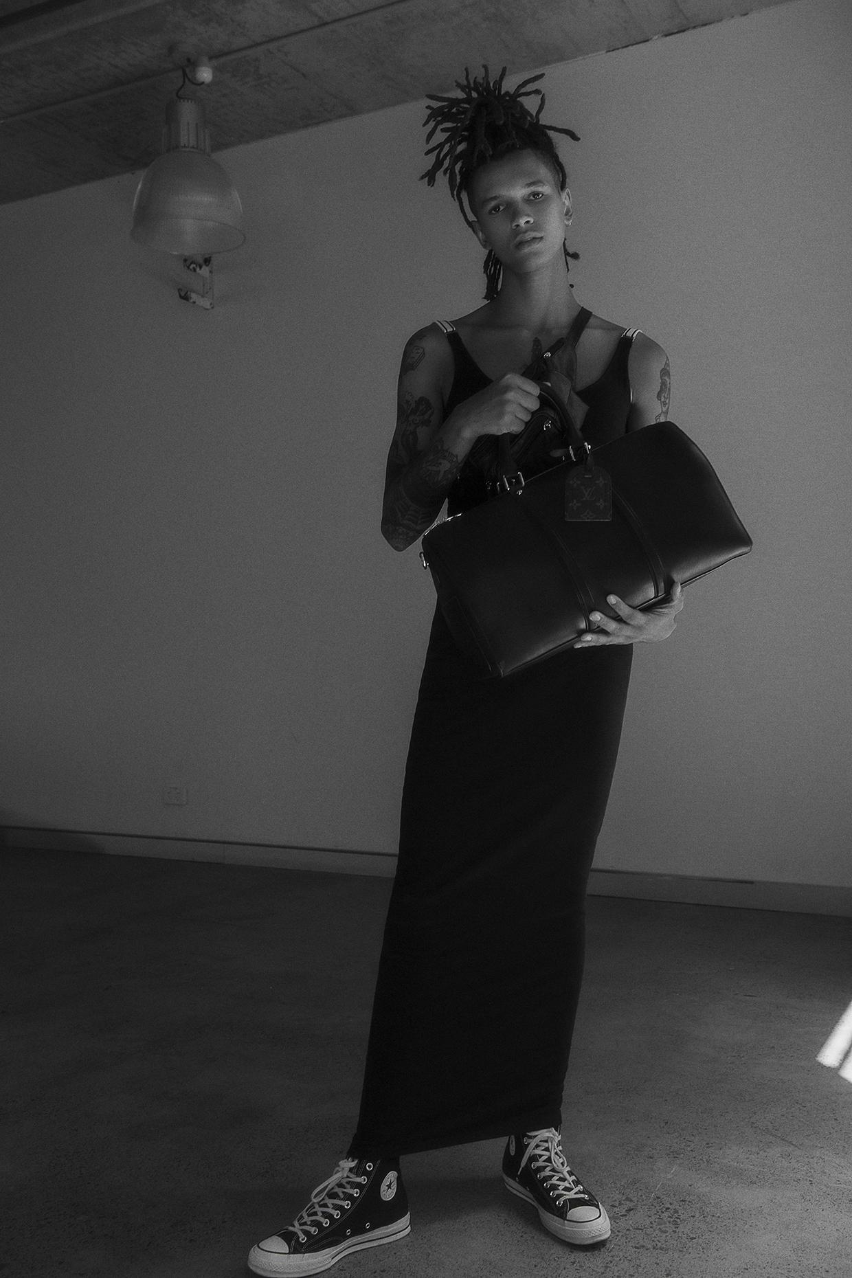 dress  puma x fenty  keepall bag  louis vuitton  bum bag  vintage  shoes  converse