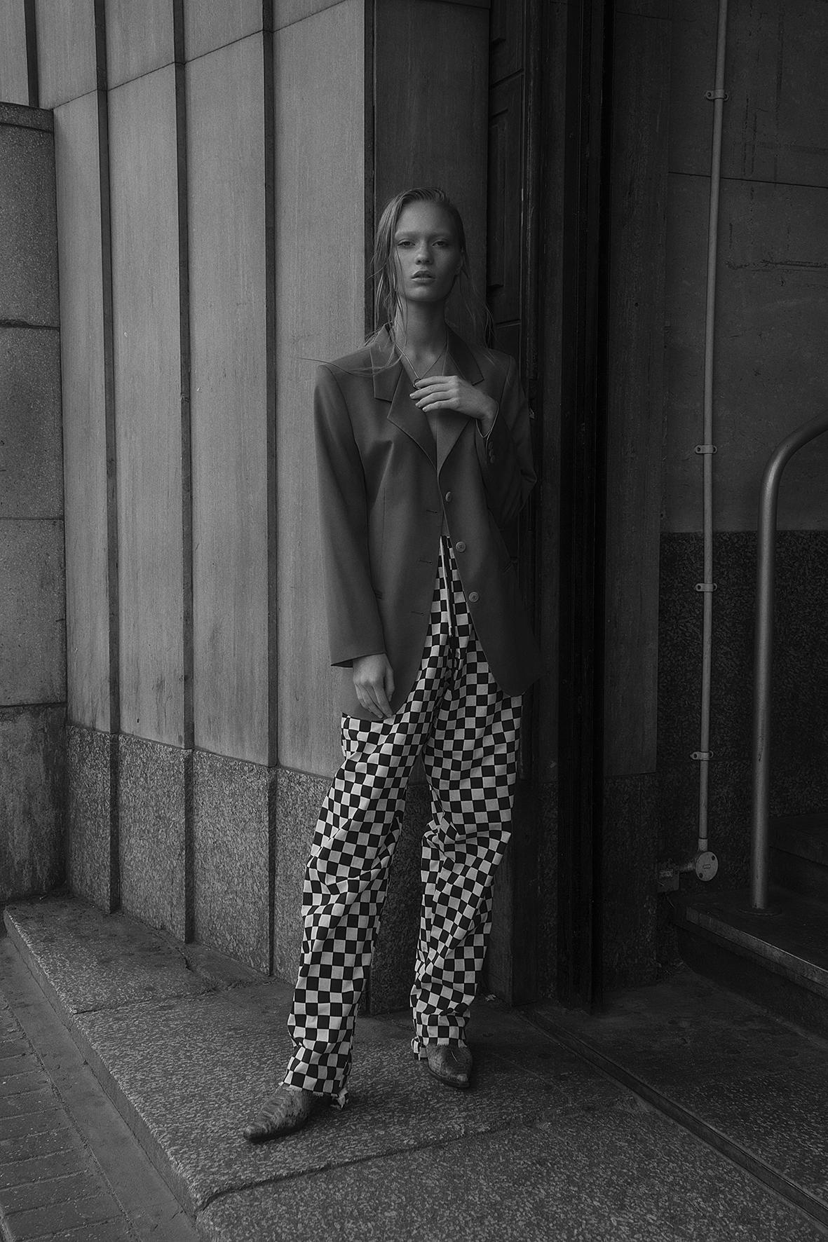 jacket  alexandra long  trousers + shoes  vintage
