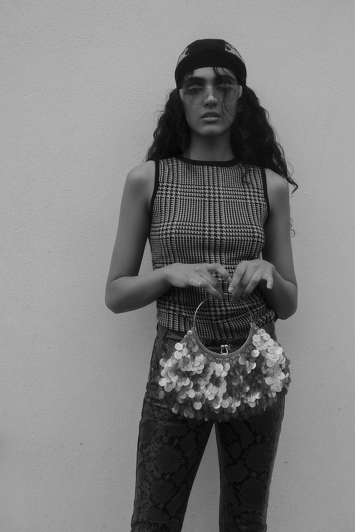 top  christopher kane  trousers  h&m studio  bag + glasses + hat  vintage