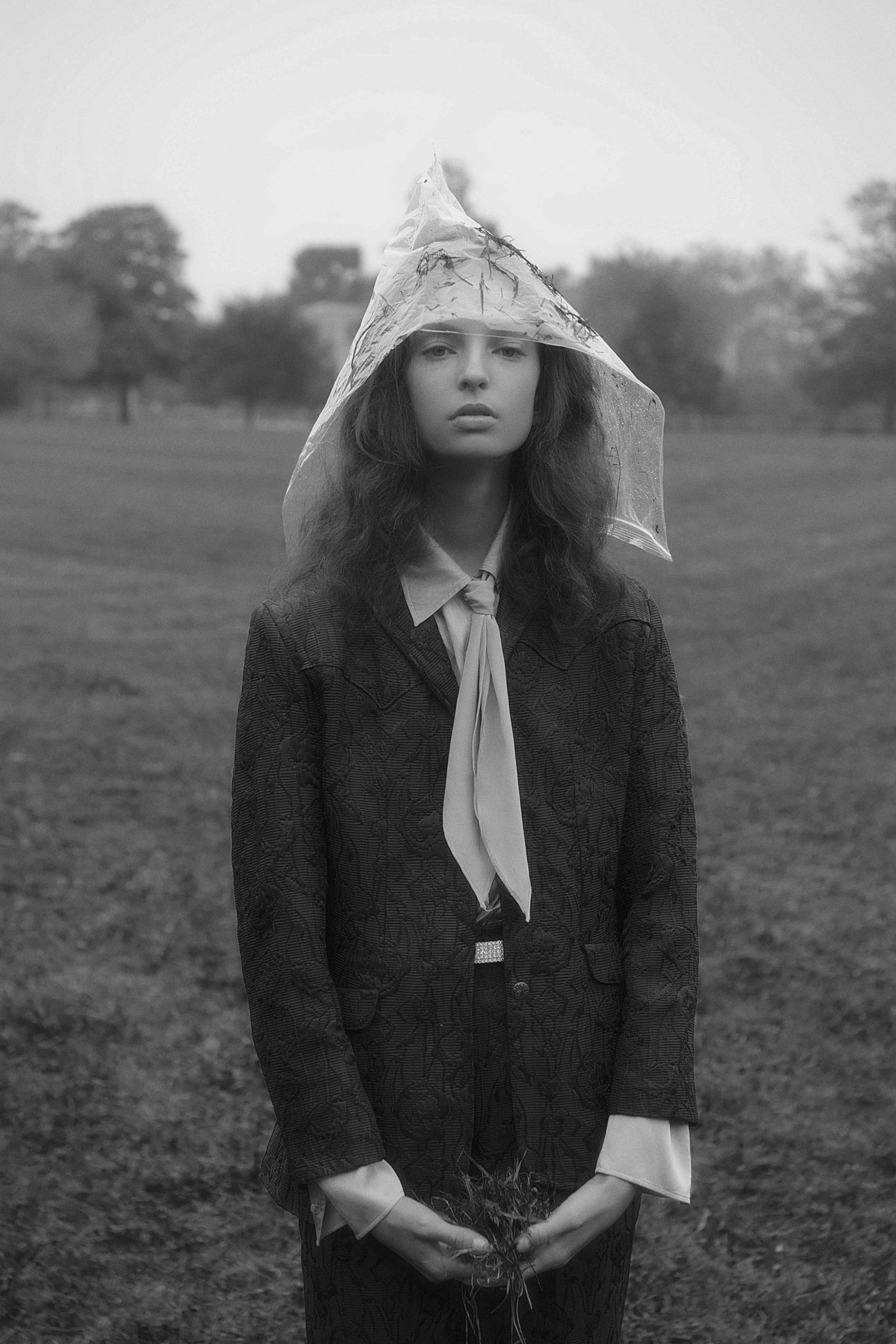 shirt  max mara  suit  mint vintage  scarf  stylist's own