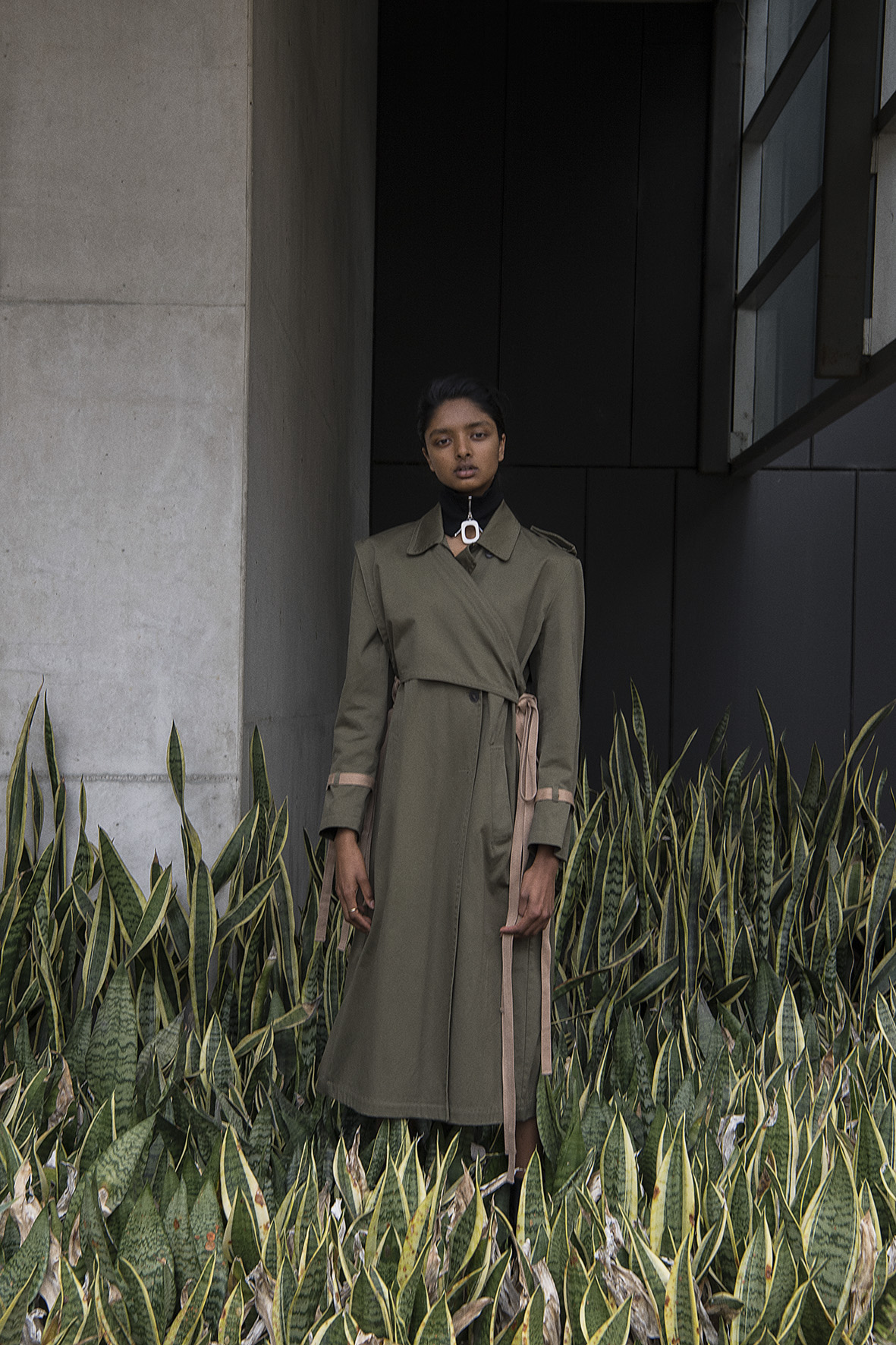 coat  ports 1961  neck band  j.w anderson
