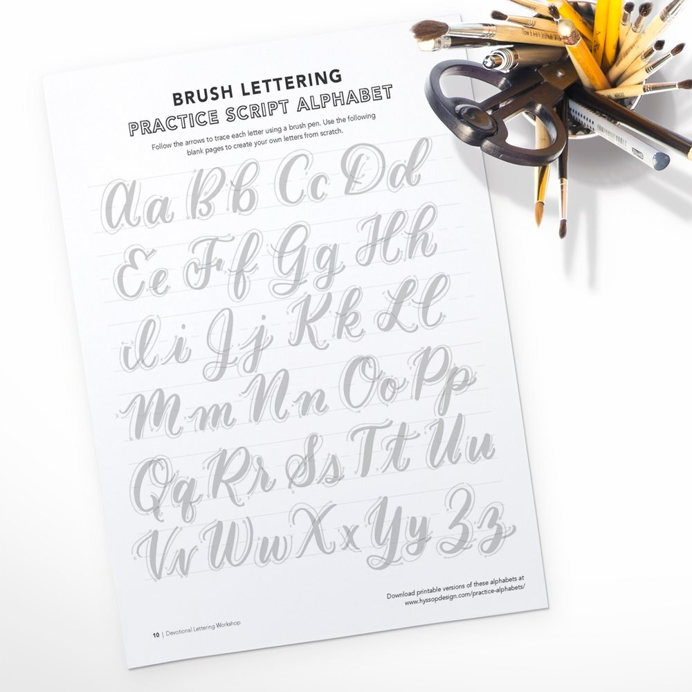 Free Calligraphy Practice Pages -
