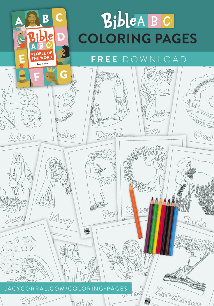 Free Coloring Pages Abc People Jacy Corral Hyssop Design