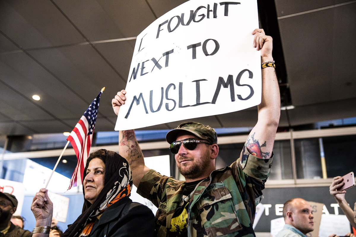 LAX Protest to Muslim Ban