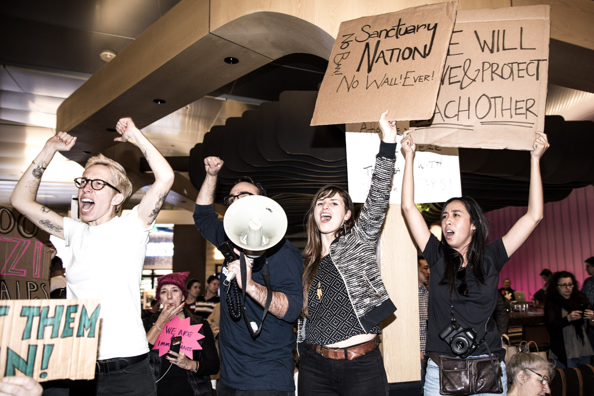 LAX Protest Against Muslim Ban