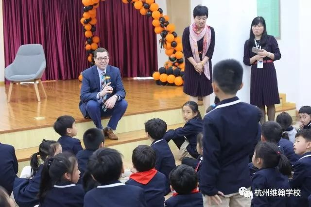 With elementary school students at a school in Hangzhou that has strong ties to Jack Ma's Alibaba, China's answer to Amazon.com