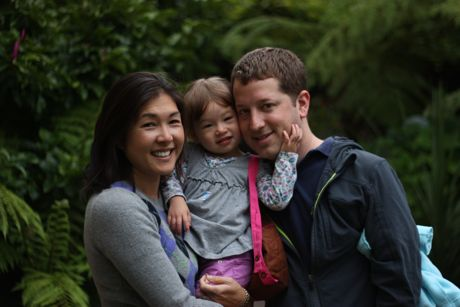 Matt and Christine with Maile,on her first day of school at PKS in 2011