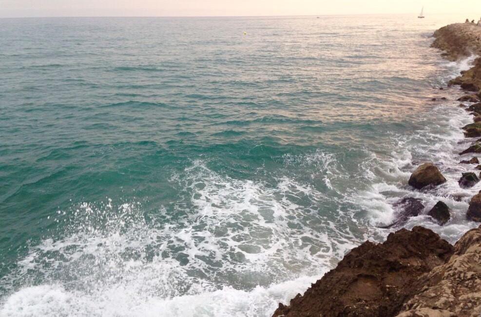 Sitges Barcelona Beach Sunset