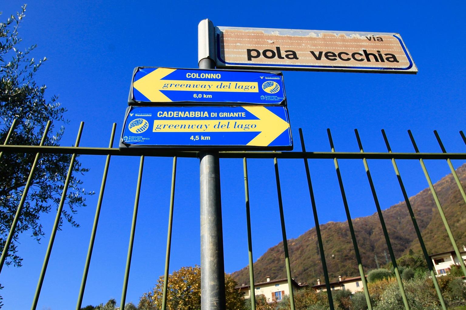 Greenway Signs Lake Como