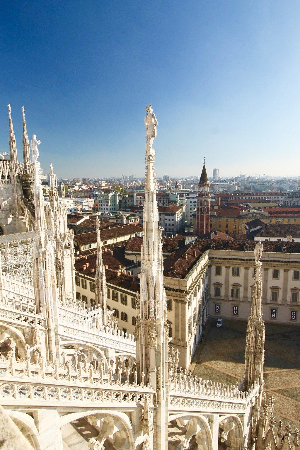 Duomo Spires Milan Italy