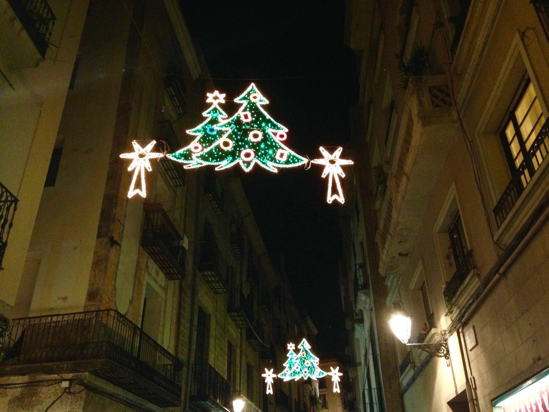 European Christmas Lights Christmas is Barcelona