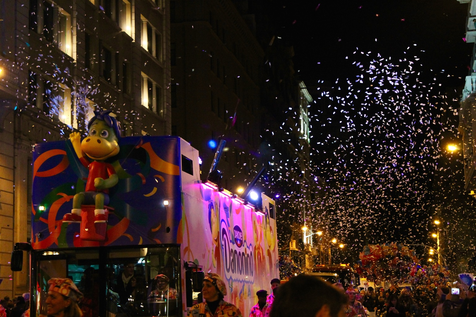 Three Kings Parade Barcelona Christmas Flying Candy
