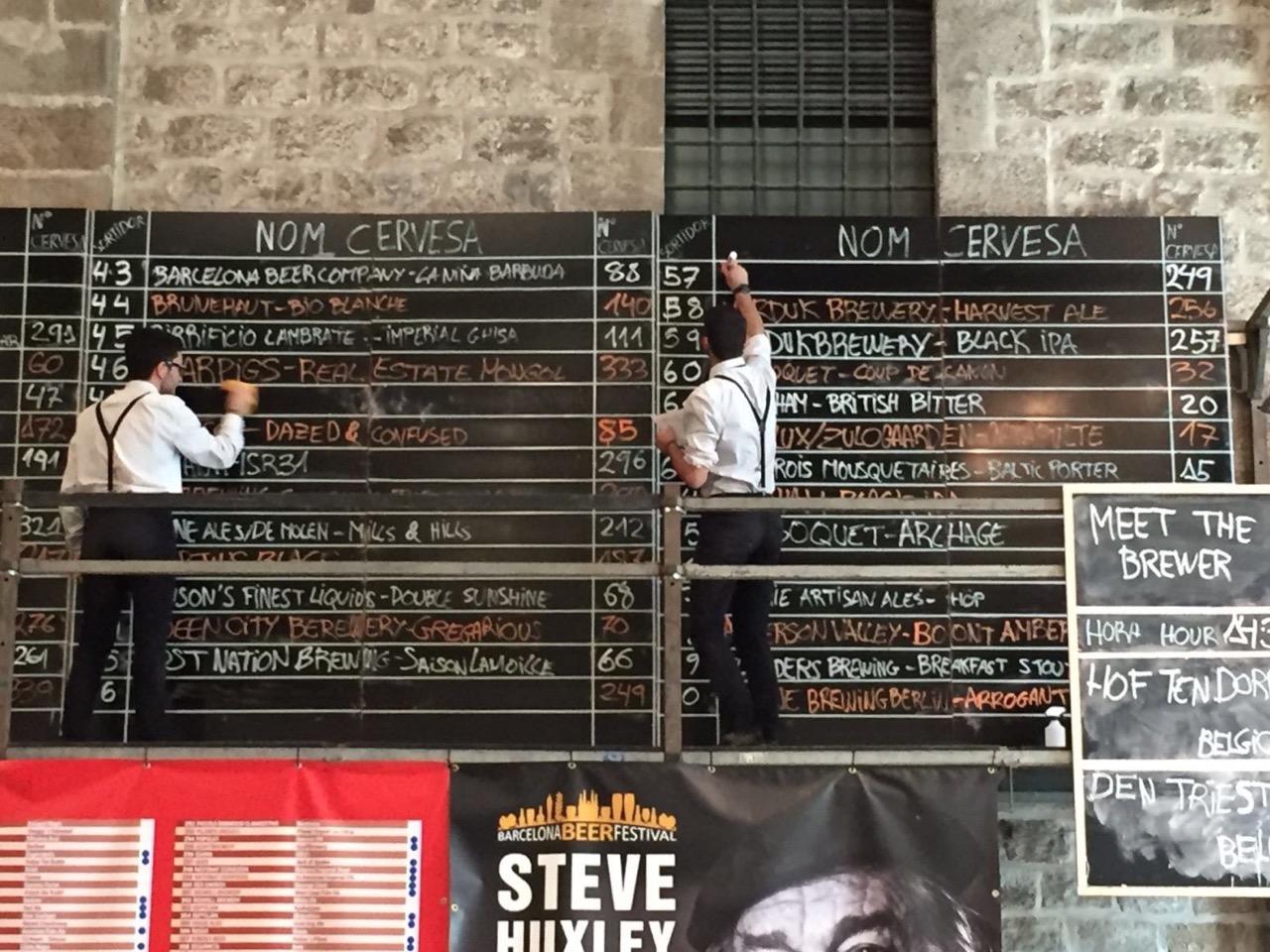 Barcelona Beer Festival BBF Chalk Board
