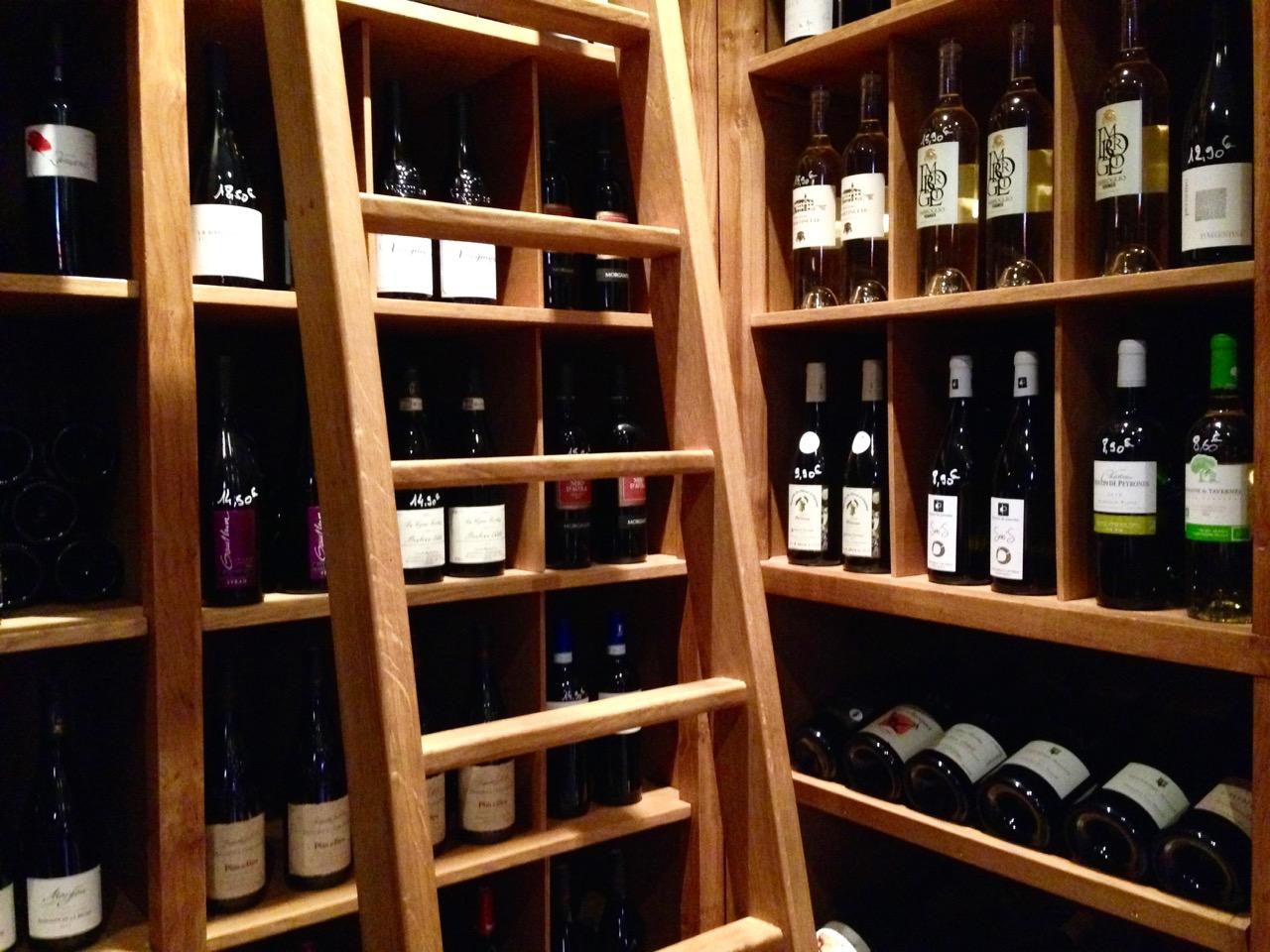 Wine Bar Eating in Paris