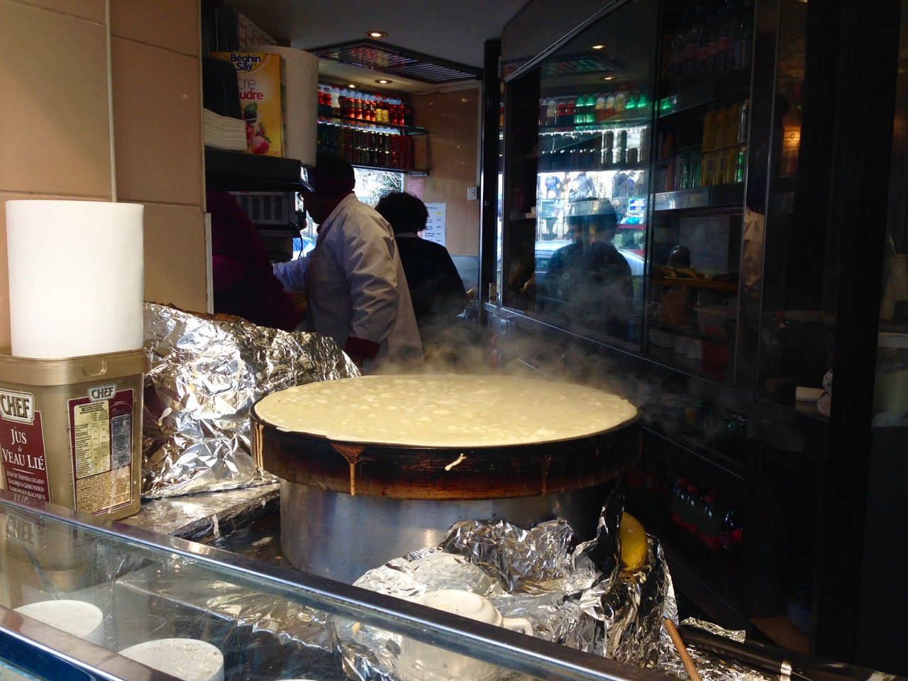 Crepes Eating in Paris